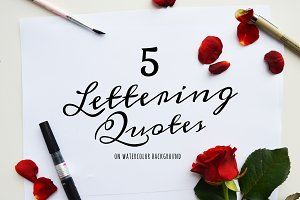 5 Motivational Lettering Quotes