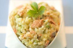 Organic Salmon Risotto