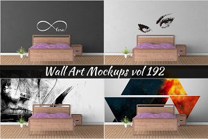 Wall Mockup - Sticker Mockup Vol 192