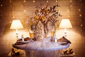 Decorated dinner table