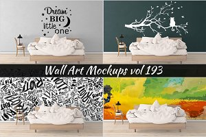 Wall Mockup - Sticker Mockup Vol 193