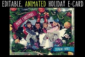 Editable, Animated Holiday eCard