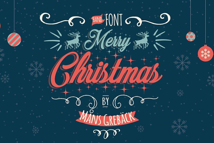 Merry Christmas ~ Script Fonts ~ Creative Market