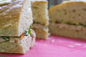 Baked Chicken Vegetable Sandwich 3