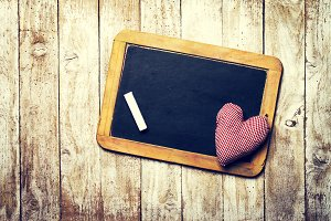 Love Concept with Chalkboard