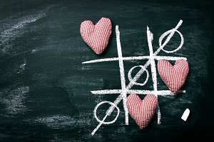 Love Concept with Tic Tac Toe
