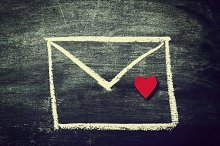 Message, Love Concept with Envelope