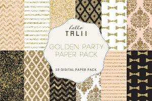 Golden Party Paper Pack