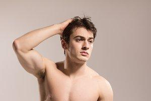 young man posing bodybuilder sexy