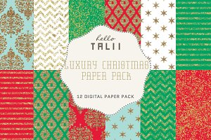 Luxury Christmas Paper Pack
