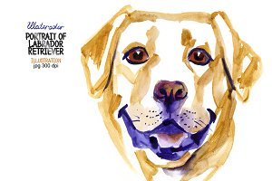 Watercolor Labrador Retriever