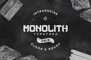 Monolith typeface (intro sale)