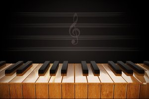 illustration of Piano keys