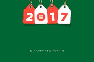 New year 2017 greeting card