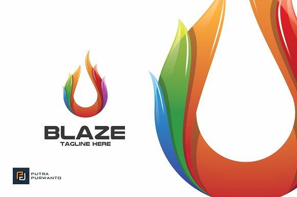 Blaze Fire Logo Template