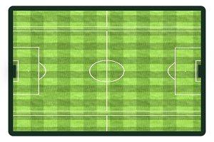 Soccer field for sport