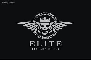Elite Skull Logo