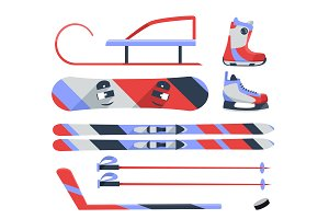 Winter sports objects