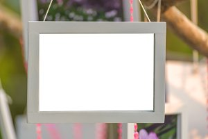 photo frame made of white wood