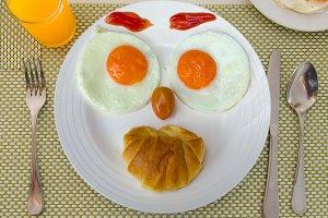Happy Face Frying Eggs