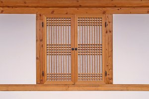 wooden window korean style