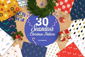 30 Seamless Christmas Patterns
