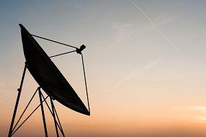 illustration of satellite dish