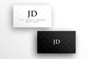 Cross Stitch Business Card Template