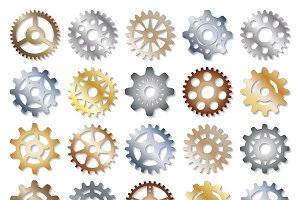 Vector gears icons set