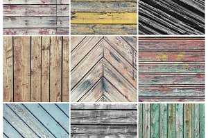Old weathered wood collage