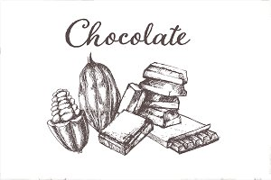 Hand drawn vector chocolate