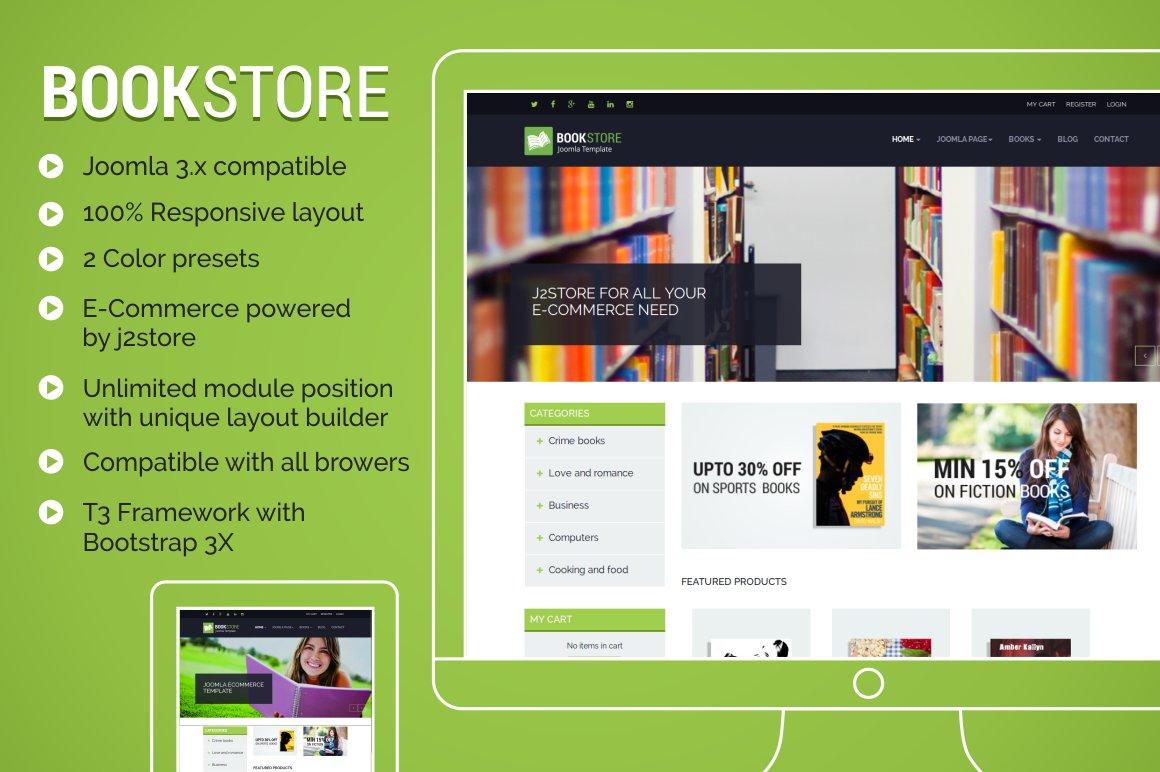 Tp Bookstore Ecommerce Template Joomla Themes Creative Market