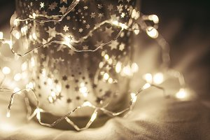 Christmas Background - Bokeh Lights