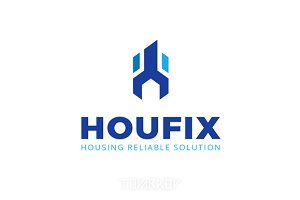 Houfix House Repair Logo Template