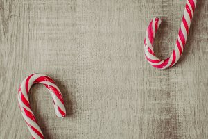 Christmas styled stock photo - candy