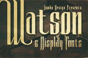 Watson - Vintage Display Font