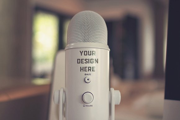 Free Microphone Mock-up