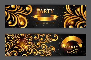 Celebration party banners.