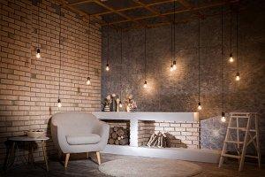 Contemporary design of living room
