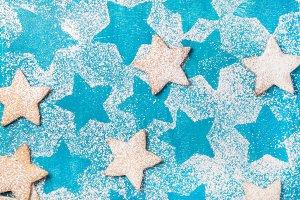 Stars shaped cookies backgrounda