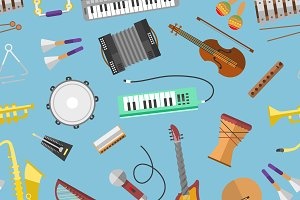 Vector music production seamless