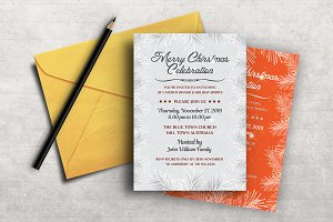Silver Christmas Invitation Party