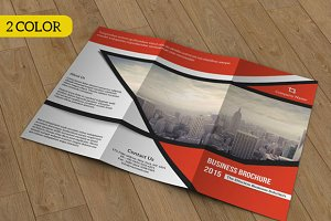 Tri-fold brochure for business-V54