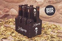 6 Pack Beer Box Mockup