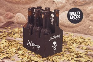 6 Pack Beer Box Mockup
