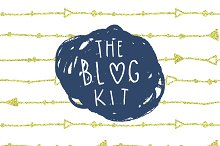 """The Blog Kit"" + Free Font"