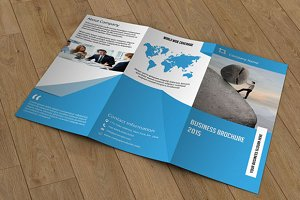 Trifold brochure template-V55