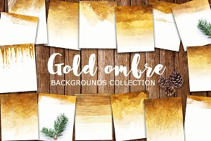 gold ombre backgrounds