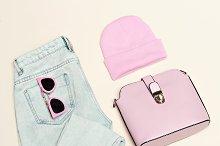 woman accessories set. Glamor