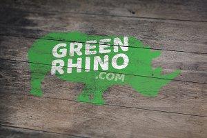 Green Rhino Logo template